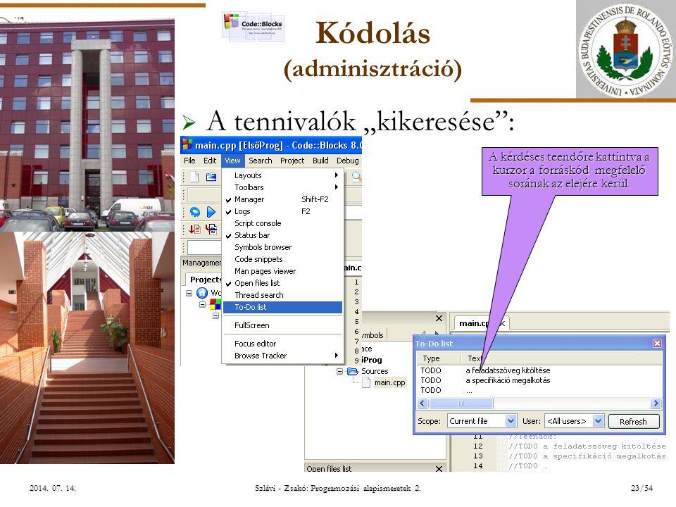 ELTE Szlávi - Zsakó: Programozási alapismeretek 2.23/542014.