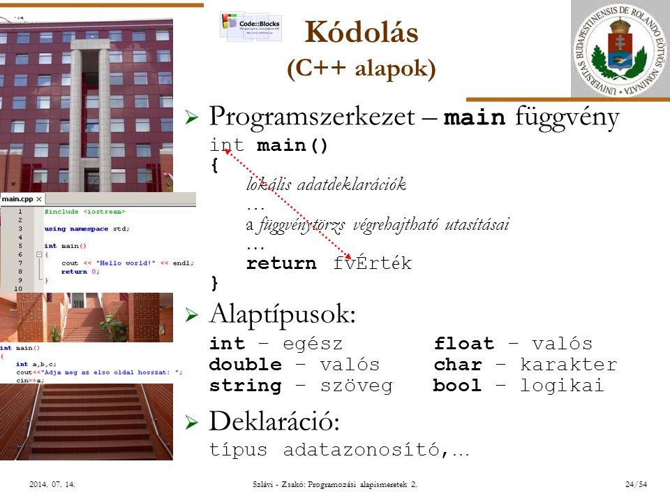 ELTE Szlávi - Zsakó: Programozási alapismeretek 2.24/542014.