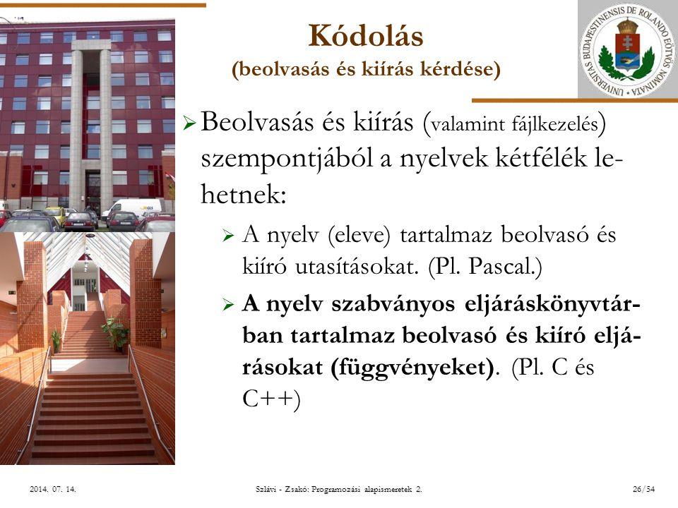 ELTE Szlávi - Zsakó: Programozási alapismeretek 2.26/542014.