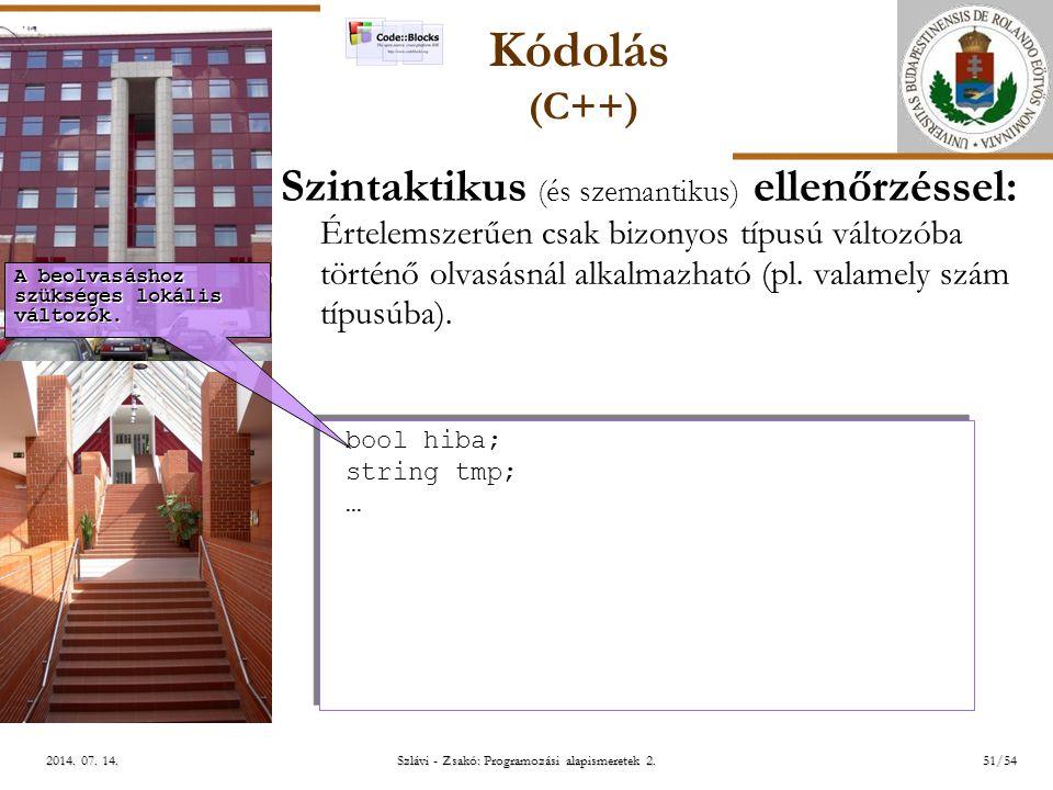 ELTE Szlávi - Zsakó: Programozási alapismeretek 2.51/542014.