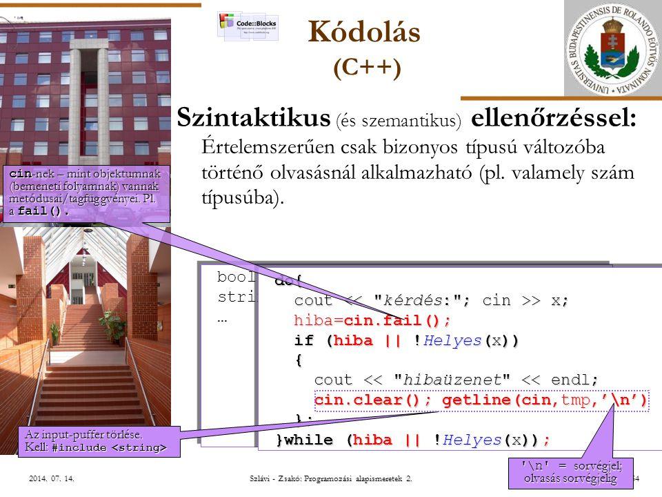 ELTE Szlávi - Zsakó: Programozási alapismeretek 2.52/542014.