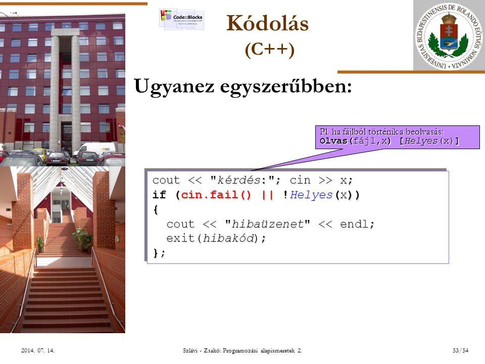 ELTE Szlávi - Zsakó: Programozási alapismeretek 2.53/542014.