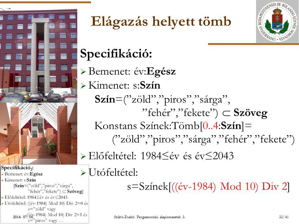 ELTE Szlávi-Zsakó: Programozási alapismeretek 3.2014.