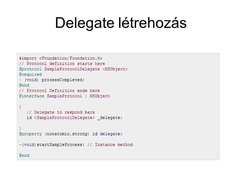 Delegate létrehozás