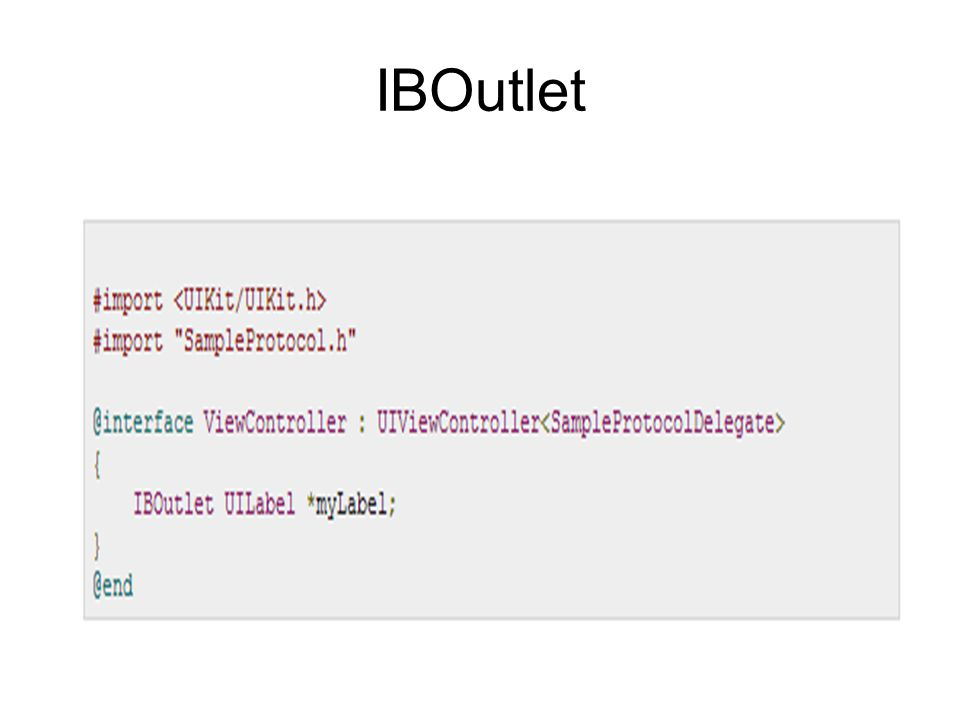 IBOutlet