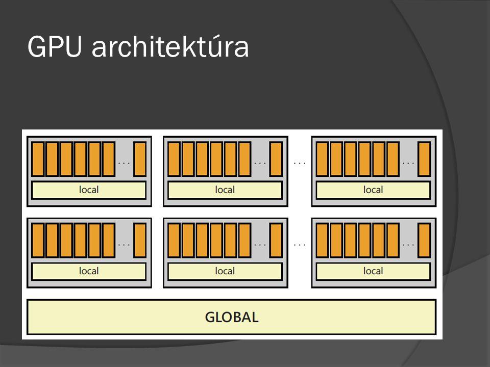  Kis cache  Több száz szál  A szálak csoportokba rendeződnek (AMD: warps, NVIDIA: wavefronts), amelyek szekvenciálisan érik el a közös cache-t  A lokális memóriát 4 óra jel alatt olvasható, a globális 400-600 alatt.