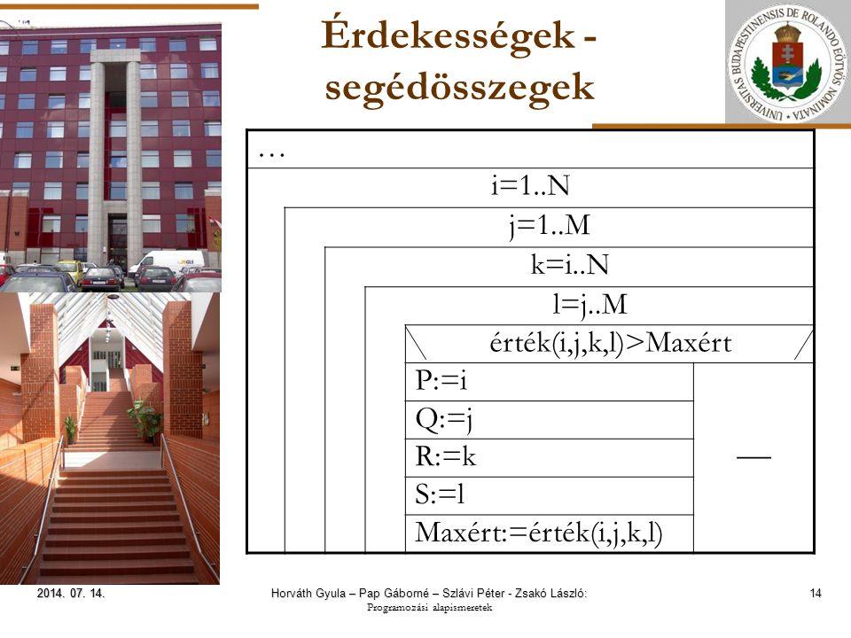 ELTE Érdekességek - segédösszegek 14 2014. 07. 14.2014.