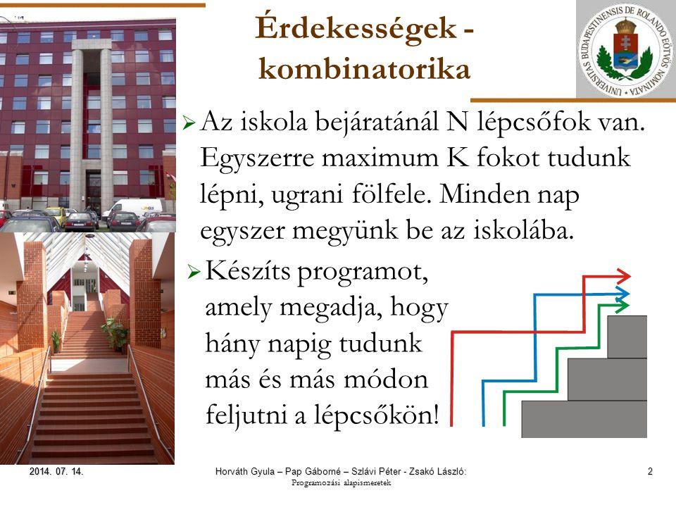 ELTE Érdekességek - segédösszegek 13 2014.07. 14.2014.