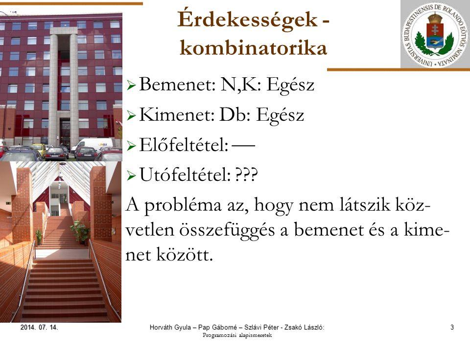ELTE Érdekességek - segédösszegek 14 2014.07. 14.2014.