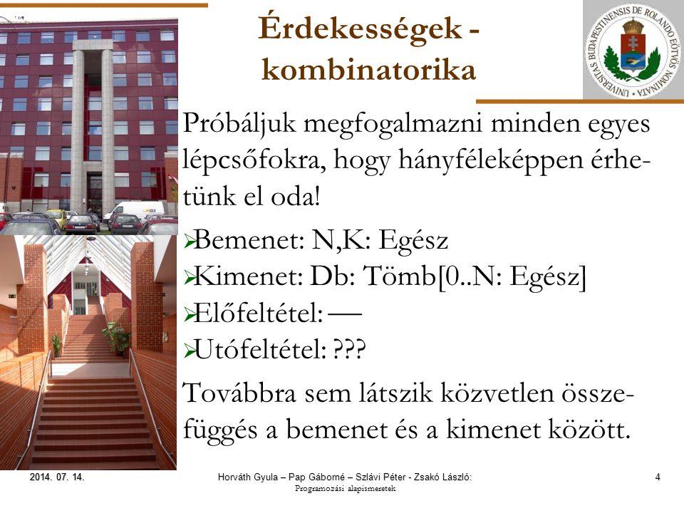 ELTE Érdekességek - segédösszegek 15 2014.07. 14.2014.