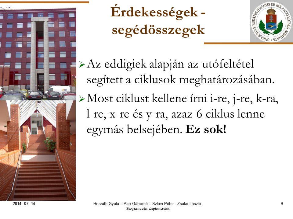 ELTE Érdekességek – Mohó stratégia 20 2014.07. 14.2014.