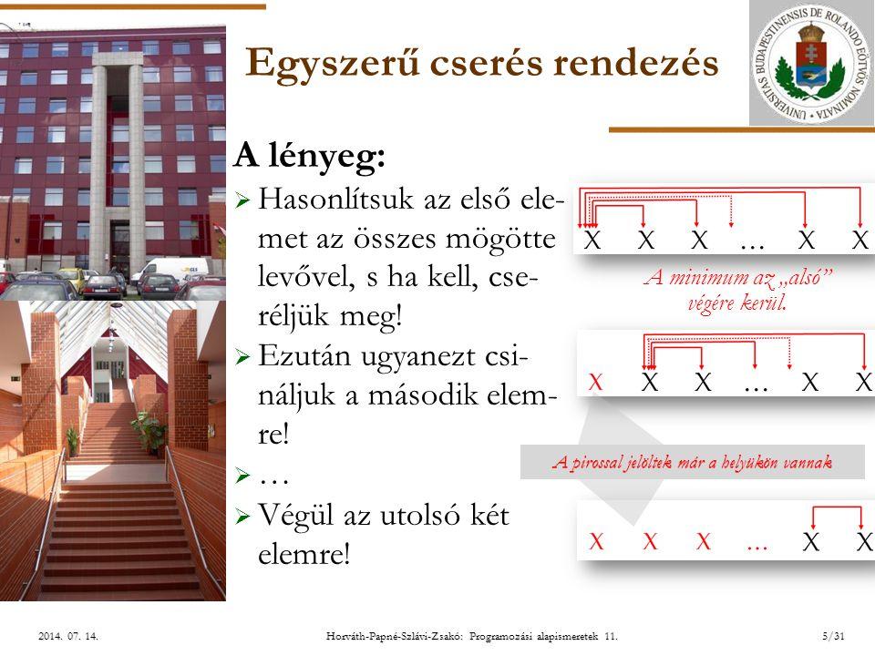 ELTE Horváth-Papné-Szlávi-Zsakó: Programozási alapismeretek 11.26/312014.