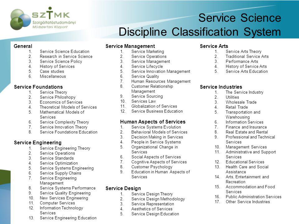 Szolgáltatástudományi képzések a világban