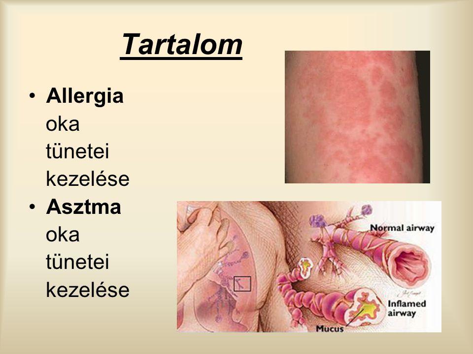 Tartalom Allergia oka tünetei kezelése Asztma oka tünetei kezelése