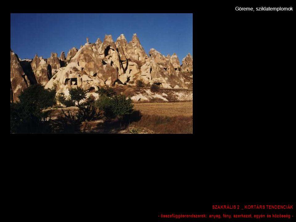 Göreme, sziklatemplomok