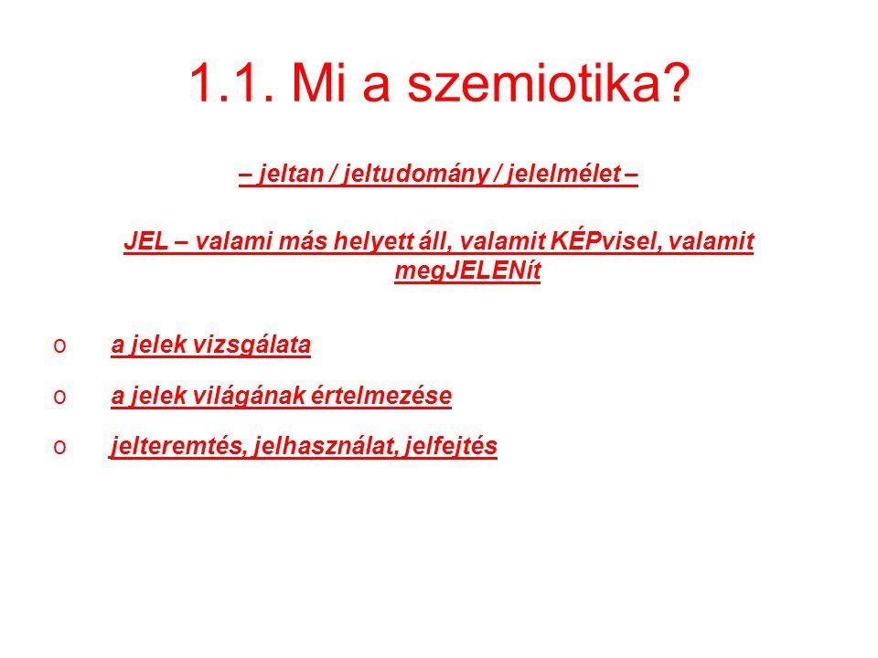 1.1.Mi a szemiotika.