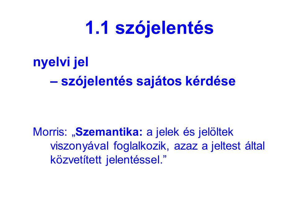 2.1.1a Barthes jelentés-szerkezete Jelölő (kifejezés síkja)Jelölt (tartalom síkja) jelölő (kifejezés síkja) jelölt (tartalom síkja)