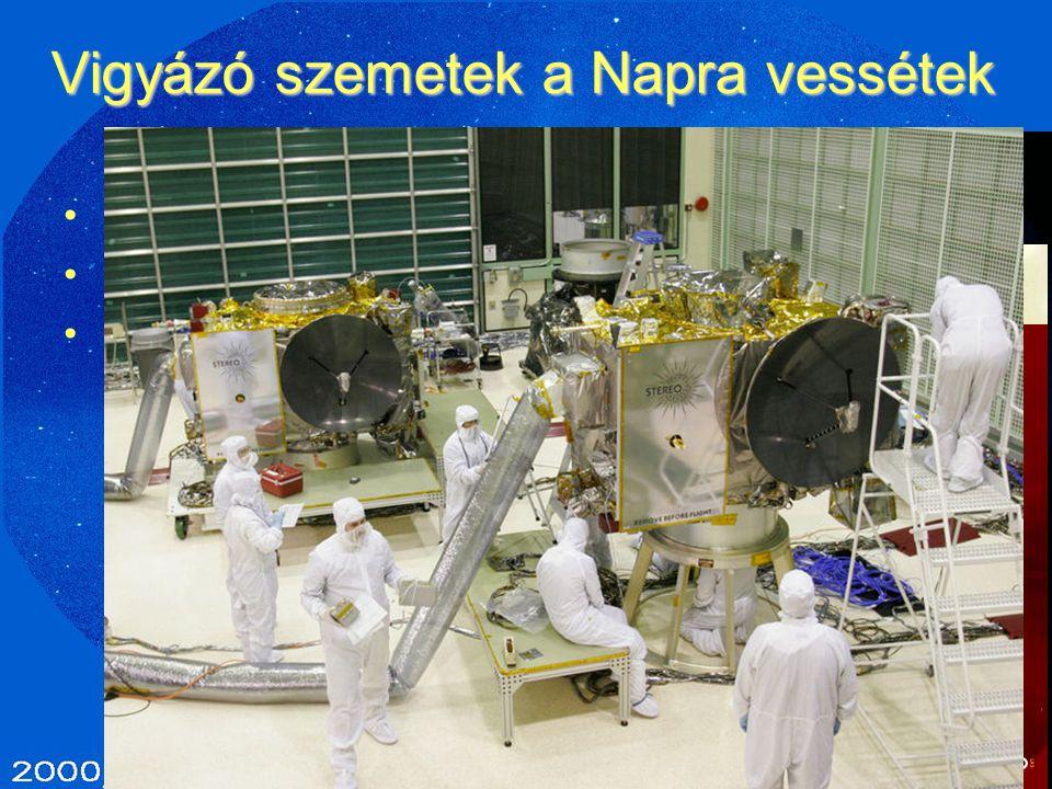 Vigyázó szemetek a Napra vessétek SOHO (1,85 t, 1995-…) – 2008-ig 1500 üstökös! ULYSSES (370 kg, 1990-2009) STEREO (2006- …)