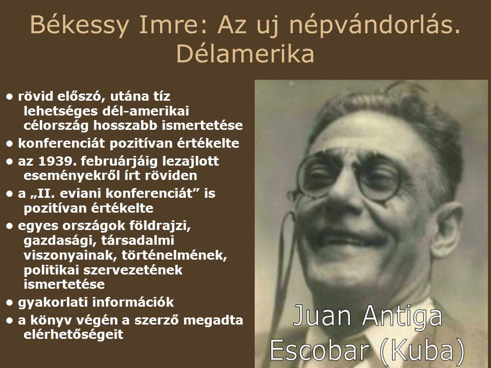 Békessy Imre: Az uj népvándorlás.