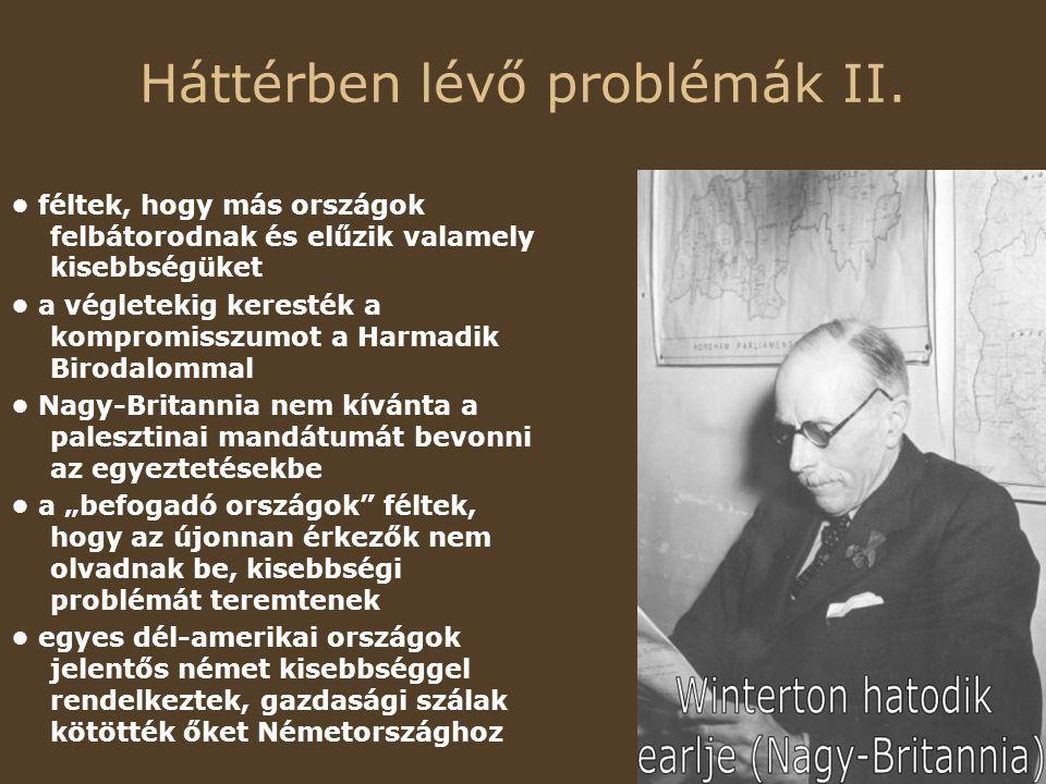 Háttérben lévő problémák II.