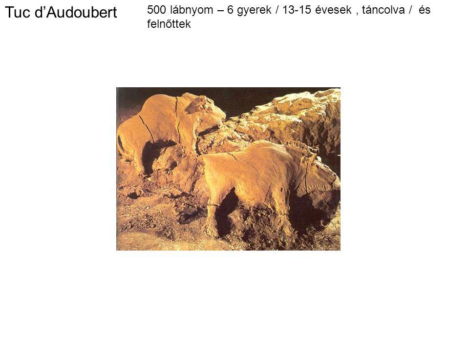 Tuc d'Audoubert 500 lábnyom – 6 gyerek / 13-15 évesek, táncolva / és felnőttek