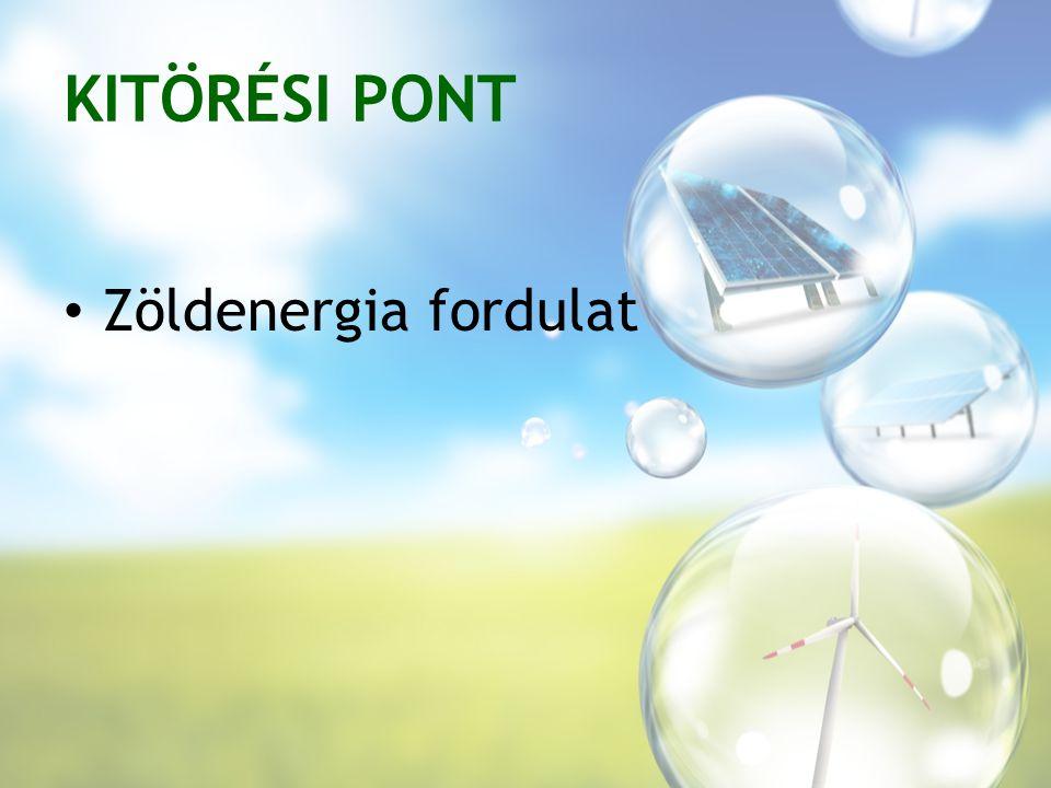 KITÖRÉSI PONT Zöldenergia fordulat