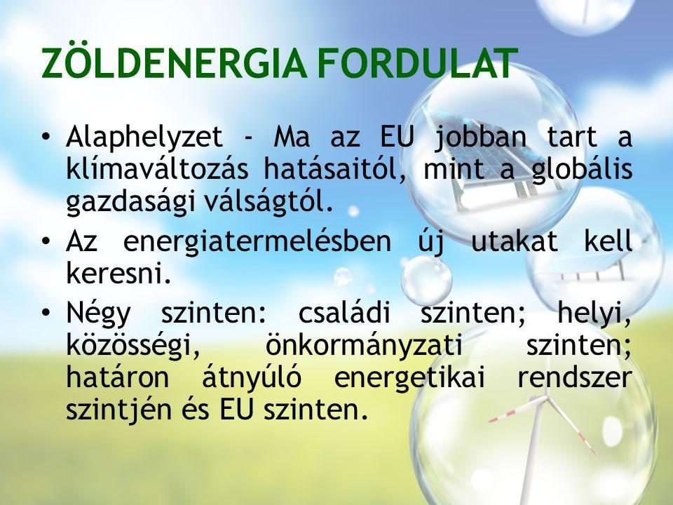 ZÖLDENERGIA FORDULAT Alaphelyzet - Ma az EU jobban tart a klímaváltozás hatásaitól, mint a globális gazdasági válságtól.