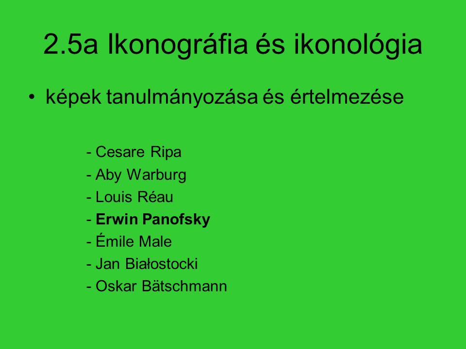 2.5a Ikonográfia és ikonológia képek tanulmányozása és értelmezése - Cesare Ripa - Aby Warburg - Louis Réau - Erwin Panofsky - Émile Male - Jan Białos