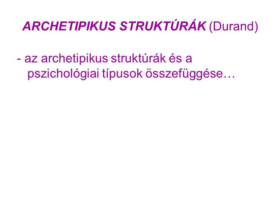 ARCHETIPIKUS STRUKTÚRÁK (Durand) - az archetipikus struktúrák és a pszichológiai típusok összefüggése…