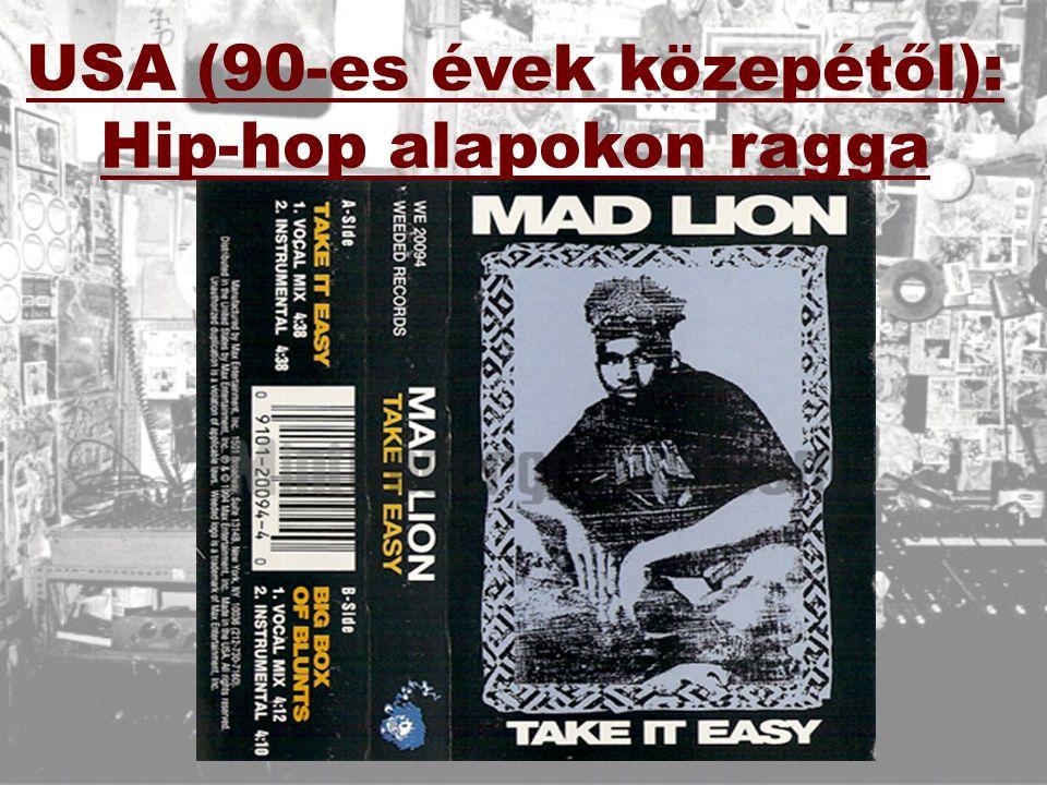 USA (90-es évek közepétől): Hip-hop alapokon ragga