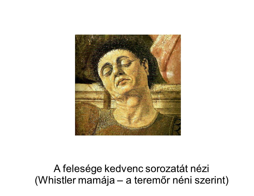 A felesége kedvenc sorozatát nézi (Whistler mamája – a teremőr néni szerint)