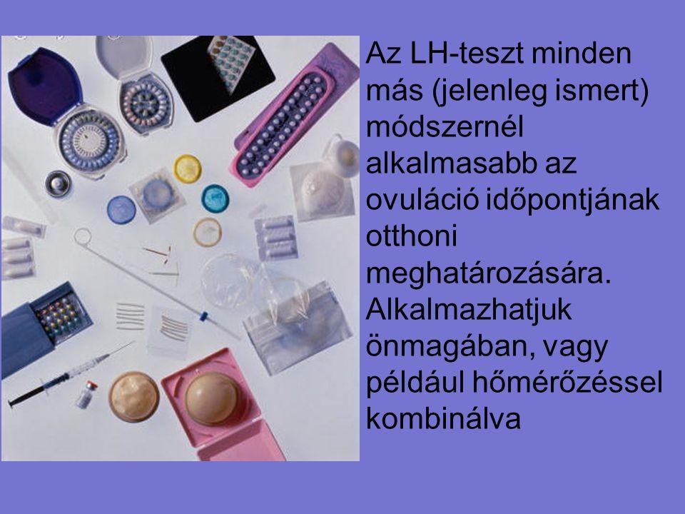 Az LH-teszt minden más (jelenleg ismert) módszernél alkalmasabb az ovuláció időpontjának otthoni meghatározására. Alkalmazhatjuk önmagában, vagy példá