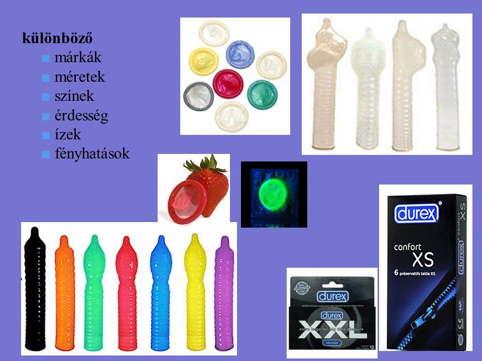 különböző ■ márkák ■ méretek ■ színek ■ érdesség ■ ízek ■ fényhatások