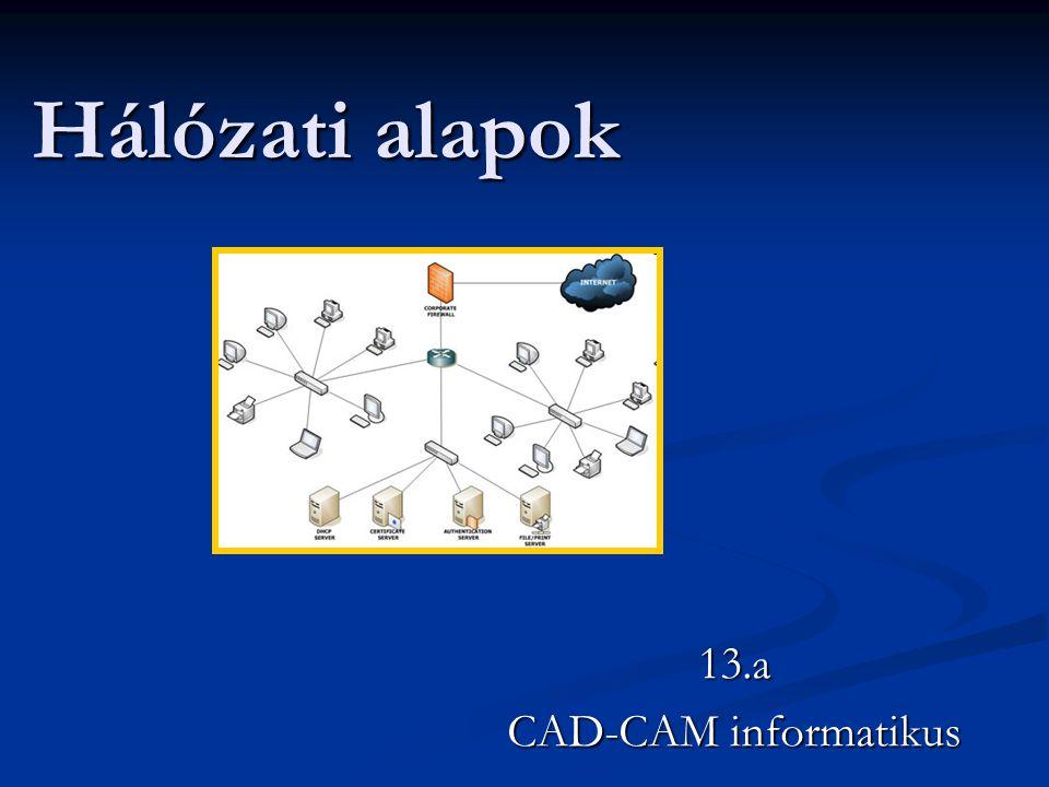 A hálózat fogalma Számítógép- hálózatok alatt az egymással kapcsolatban lévő önálló gépek rendszerét értjük.