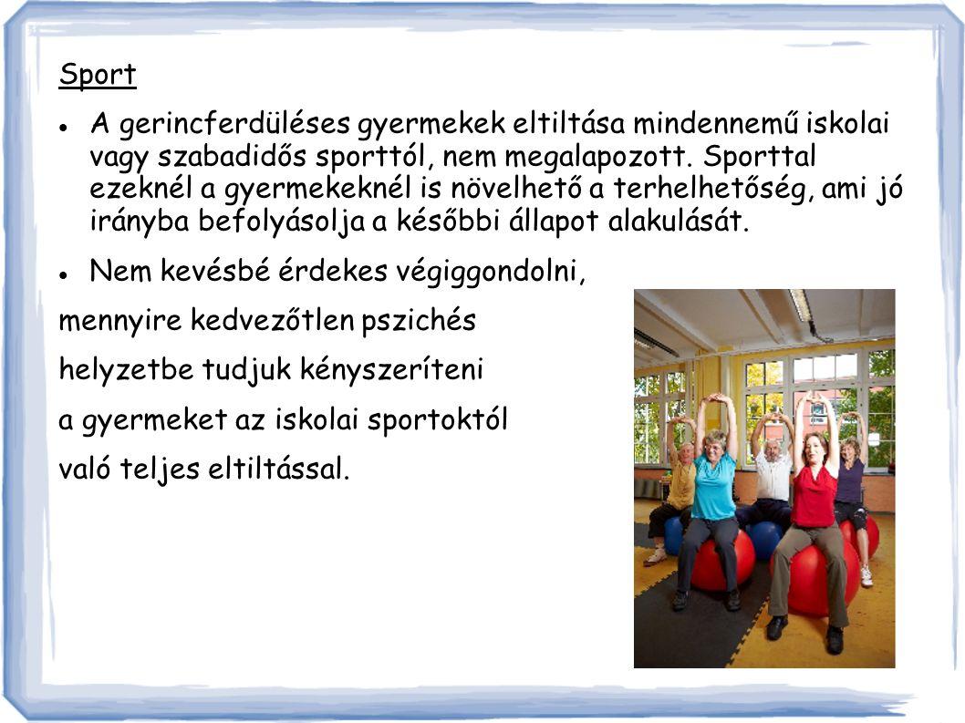 Sport A gerincferdüléses gyermekek eltiltása mindennemű iskolai vagy szabadidős sporttól, nem megalapozott.