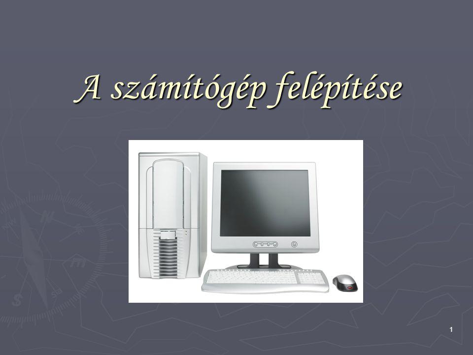 12 A memória típusai ► Cache: gyorsító tár, átmeneti tároló számítógépek átmeneti tárolóegysége, meg- előző műveleteknél használt, vagy a világhálóról lehívott adatok ideiglenes tárolására.