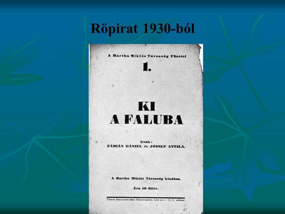 Röpirat 1930-ból