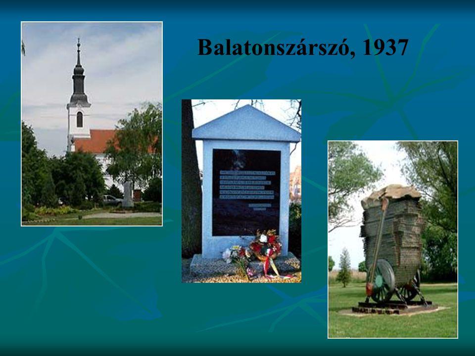 Balatonszárszó, 1937