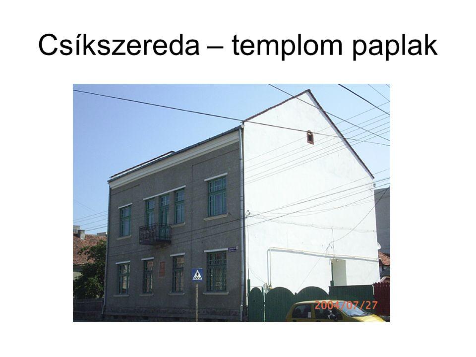 Csíkszereda – templom paplak