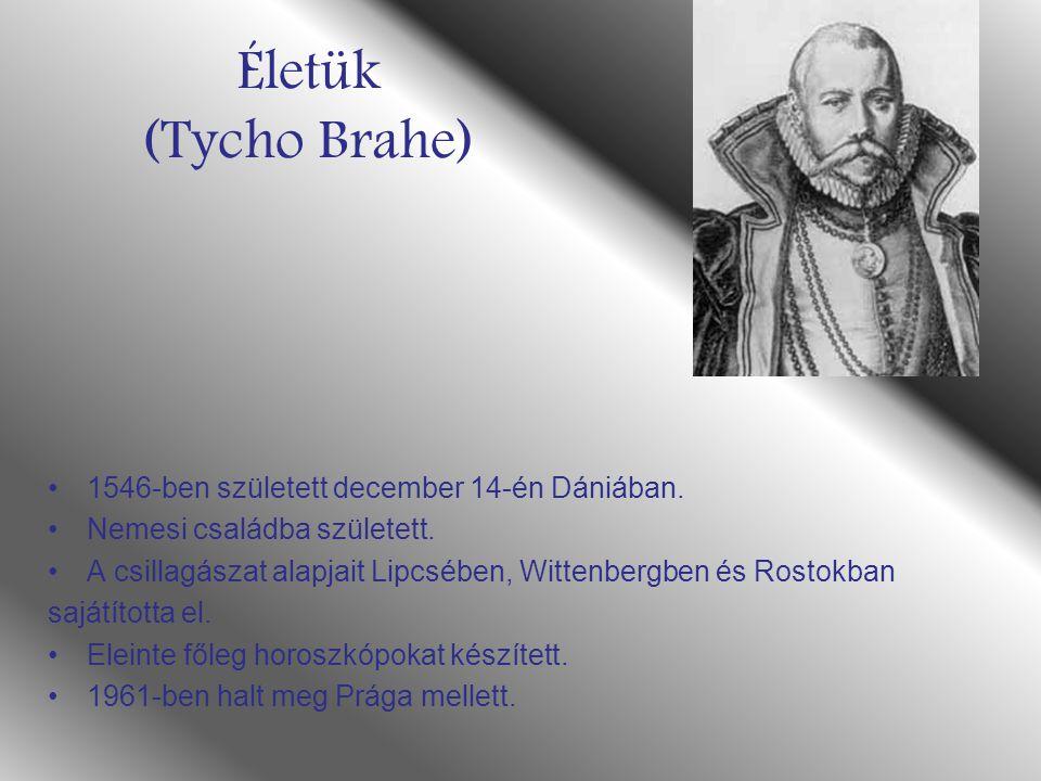 Életük (Tycho Brahe) 1546-ben született december 14-én Dániában. Nemesi családba született. A csillagászat alapjait Lipcsében, Wittenbergben és Rostok