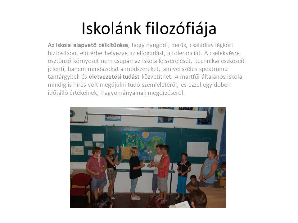 Iskolánk filozófiája Az iskola alapvető célkitűzése, hogy nyugodt, derűs, családias légkört biztosítson, előtérbe helyezve az elfogadást, a toleranciát.