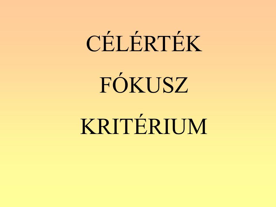 CÉLÉRTÉK FÓKUSZ KRITÉRIUM