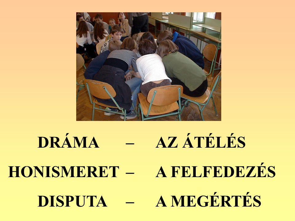 A dráma elemei a disputában: az osztály, annak kisebb csoportja illetve egyénei az érvelésben vagy a cáfolatban felhasználhatják a nyitó foglalkozás és az ismeretszerzés során megélt és itt reprodukált konvenciókat: tablót, belső hangot, fórum színházat, kiscsoportos improvizációt, stb.