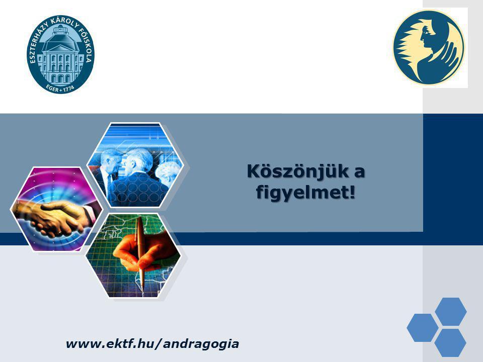 LOGO www.ektf.hu/andragogia Köszönjük a figyelmet!
