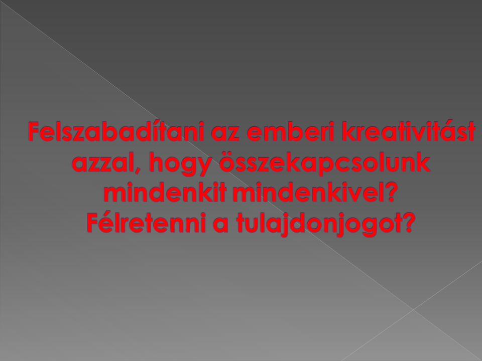  Eben Moglen: Diadalmas anarchizmus: szabad szoftver és a szerzõi jog halála http://emoglen.law.columbia.edu/my_ pubs/anarchism-hungarian.html http://emoglen.law.columbia.edu/my_ pubs/anarchism-hungarian.html  http://hu.wikipedia.org/wiki/Szabad_szo ftver http://hu.wikipedia.org/wiki/Szabad_szo ftver  http://ec.europa.eu/enterprise/sectors/i ct/files/2006-11-20-flossimpact_en.pdf http://ec.europa.eu/enterprise/sectors/i ct/files/2006-11-20-flossimpact_en.pdf  http://hu.wikipedia.org/wiki/Szabad_lic enc http://hu.wikipedia.org/wiki/Szabad_lic enc  http://hu.wikipedia.org/wiki/GNU http://hu.wikipedia.org/wiki/GNU  http://www.unix.org/ http://www.unix.org/