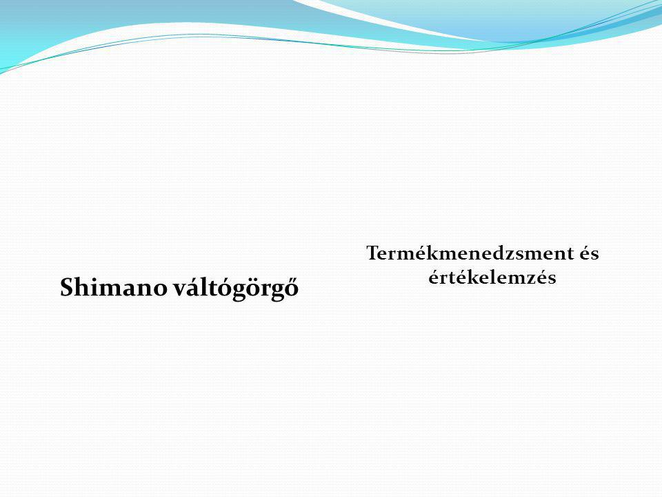 Shimano váltógörgő Termékmenedzsment és értékelemzés
