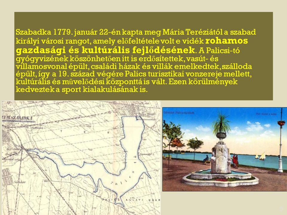 Szabadka 1779. január 22-én kapta meg Mária Teréziától a szabad királyi városi rangot, amely el ő feltétele volt e vidék rohamos gazdasági és kultúrál