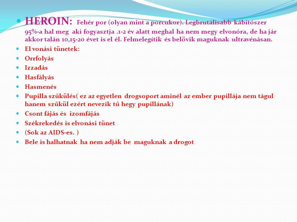 Ópioid / Ópiátok Máktea Ópium Morphium Heroin Mákból állítják elő