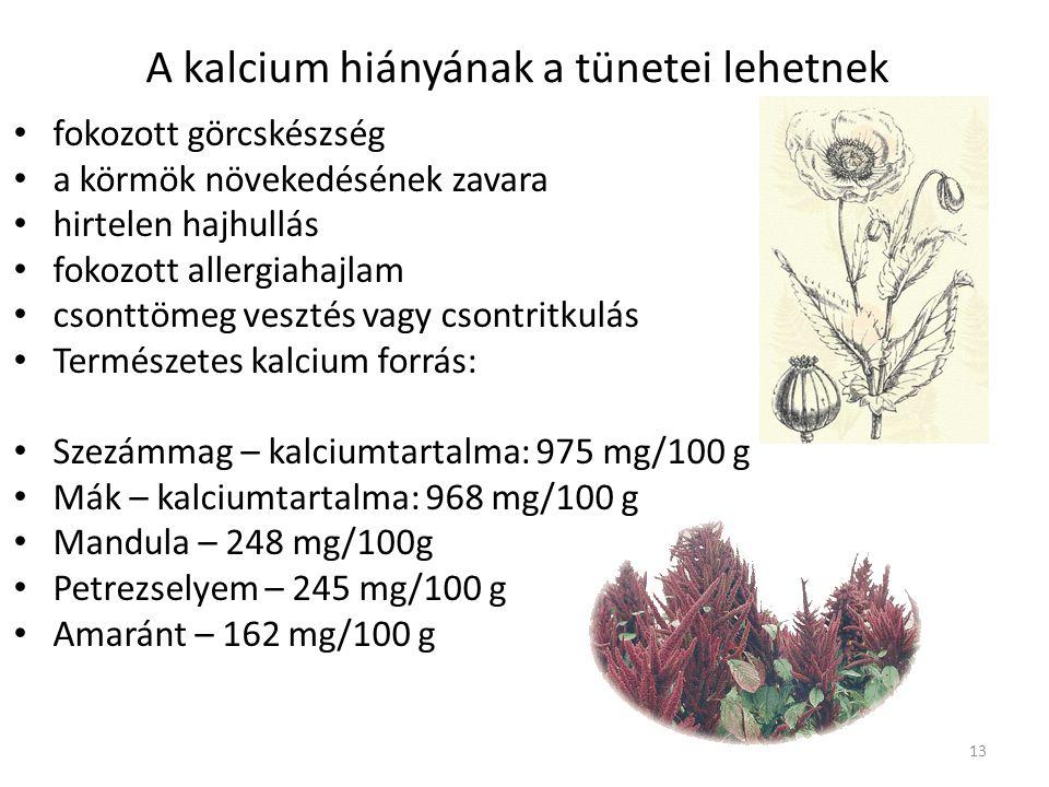 Vitamin és nyomelempótlás: A szervezet napi kalciumszükséglete a különböző életkorokban eltérő. Átlagosan legalább 500-600 mg naponta, bizonyos állapo