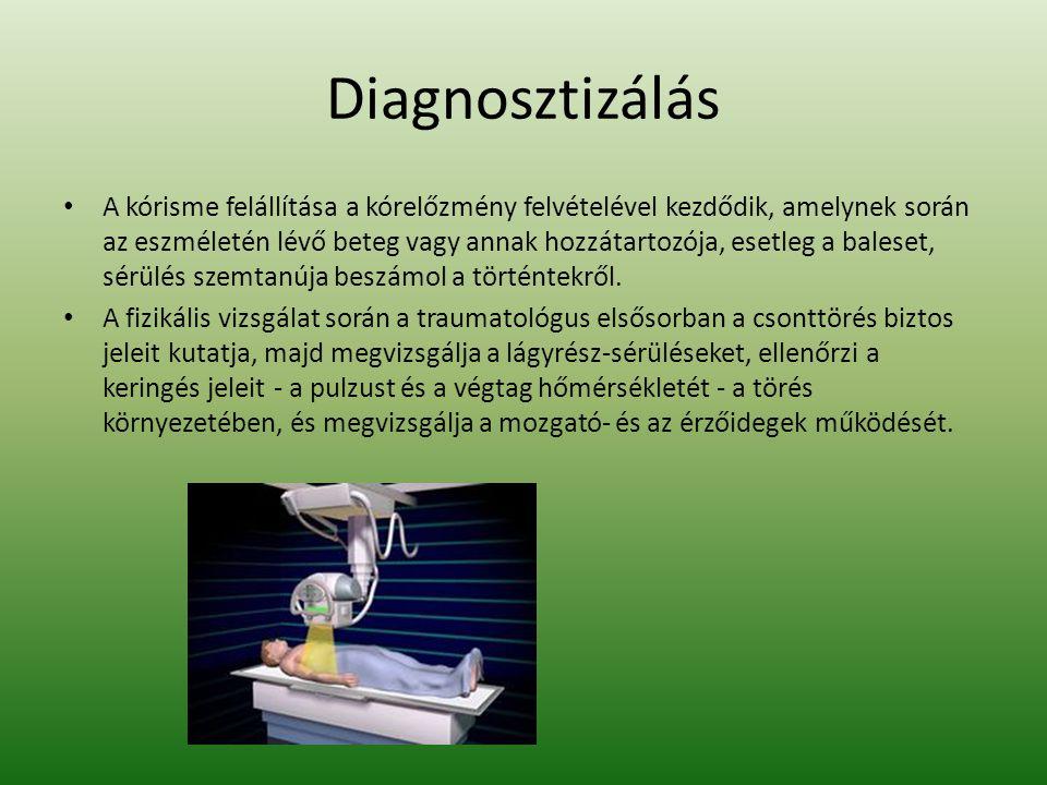 Diagnosztizálás A kórisme felállítása a kórelőzmény felvételével kezdődik, amelynek során az eszméletén lévő beteg vagy annak hozzátartozója, esetleg